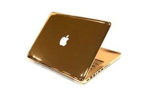 золотой ноутбук,самый дорогой ноутбук,красивый ноутбук,gold notebook apple