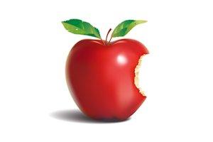 apple,yabloko,logo,apple логотип настоящее яблоко, надгрызанное яблоко
